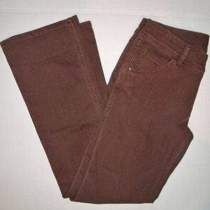 CAbi Jeans Stretch Bootcut Pants Brown 6